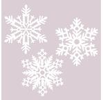 Set de 3 flocons de neige en papier washi - Diam. 11cm