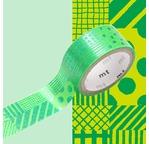 MT FAB métallisé Motif script vert / script green NEW AW15