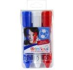 Lot de 3 sticks maquillage bleu blanc rouge GRIMTOUT
