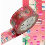 MT NOEL Motif Cadeaux / present - 2cm x 7m