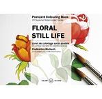 PEPIN Bloc de 20 cartes postales à colorier 10,5x15cm Fleurs