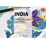 PEPIN Bloc de 20 cartes postales à colorier 10,5x15cm Inde