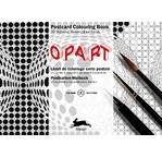 PEPIN Bloc de 20 cartes postales à colorier 10,5x15cm Op Art