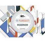 PEPIN Bloc de 48 sets de table déco en papier 30x42cm Motifs Modernes