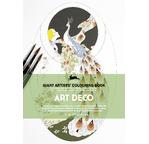 PEPIN Livre à colorier pour artiste 30x42cm Art Deco pp 19,95€
