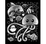 Scraper Argent Kawaii - SOUS L'OCEAN