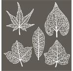 Set de 5 feuilles en papier washi - 8/10cm