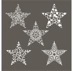 Set de 5 étoiles en papier washi - 7,5cm