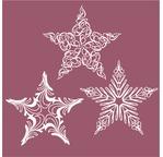 Set de 3 étoiles en papier washi - 11cm