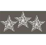 Set de 3 étoiles en papier washi - 7,5cm