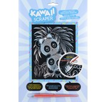 Kawaii silver artfoil pandas