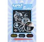 Kawaii silver artfoil under the sea