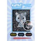 Kawaii silver artfoil cat