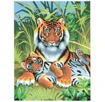 Peinture par N° débutant - Tigres