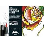 PEPIN 20 cartes postales pour marqueurs à colorier Fleurs