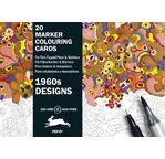 Marker Colouring Card  Books 1960s Designs
