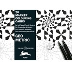 Marker Colouring Card Books Geometric