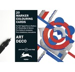 Marker Colouring Card Books Art Déco