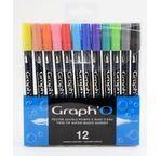 GRAPH'O Set de 12 couleurs Essentielles