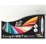 GRAPH'IT BRUSH & EXTRA FINE Set 24 markers - Comics