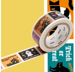 MT HALLOWEEN Motif  Halloween label - 1,8cm x 7m