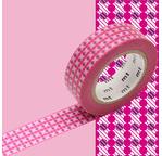 MT 1P Motif points de croix rose / dot stripe pink
