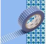 MT 1P Motif points de croix bleu / dot stripe blue
