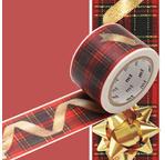 MT NOEL Motif  ruban cadeau / christmas ribbon - 3cm x 7m