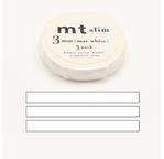 MT SLIM Set de 3 mt slim 3mm uni blanc / matte white