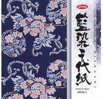 CHIYOGAMI Simple face - 15 x 15cm, 8 feuilles, 8 motifs tradi