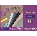 FABRIANO TIZIANO-Bloc 29,7x42cm-160gsm-30 feuilles-6 couleurs chinées