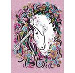 ART SEQUIN - La licorne romantique