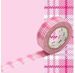 MT 1P Motif tartan écossais rose / check pink
