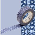 MT 1P Motif étoile fond bleu asanoha konruri