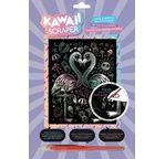 Kawaii holographic artfoil flamingo