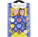 GRIM'TOUT Facepaint Palette 9 colors - Unicorn - WITH SLEEVE