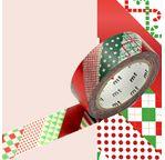 MT NOEL Rayures de Noël - 1,5cm x 7m
