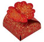 PAPERTREE LEILA Florets - Set de 5 pièces - Rouge