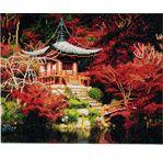 CRYSTAL ART Kit tableau broderie diamant 40x50cm Temple japonais