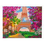 CRYSTAL ART Kit tableau broderie diamant 40x50cm Tour Eiffel Paris