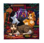 CRYSTAL ART Kit tableau broderie diamant 30x30cm Chats