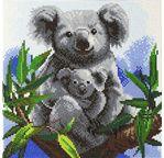 CRYSTAL ART Kit tableau broderie diamant 30x30cm Koalas