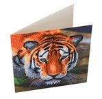 Crystal Art Card Kit 18x18cm Tiger
