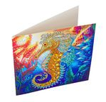 Crystal Art Card Kit 18x18cm Seahorse
