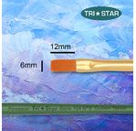 Tristar, Synthetic fibre brush - flat N°8 - short green handle