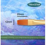 Tristar, Synthetic fibre brush - flat N°14 - short green handle