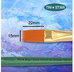 Tristar, Synthetic fibre brush - flat N°16 - short green handle