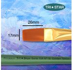 Tristar, Synthetic fibre brush - flat N°18 - short green handle