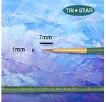 Tristar, Synthetic fibre brush - round N°02 - short green handle