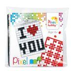 PIXEL Kit créatif porte-clé 4x3cm - I love you